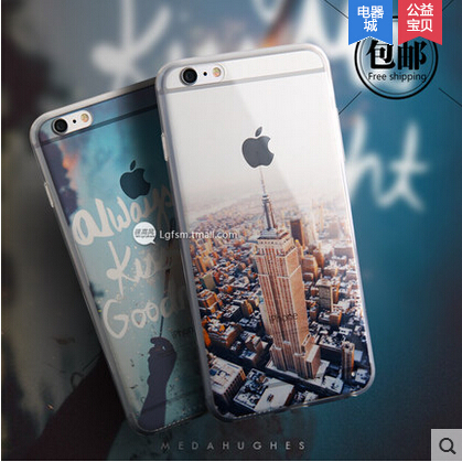 Beautiful City Mountain Ocean Transparent Case Cover Apple iPhone 6 Silicone Series Crystal Soft Phone - ShenZhen ChengXiang Technology co., LTD store