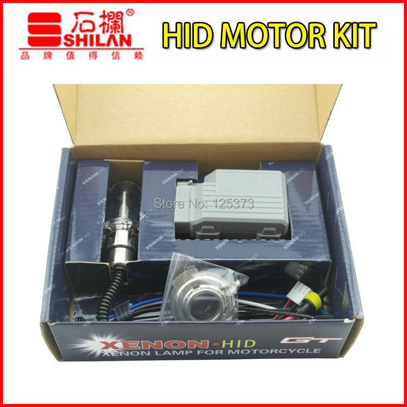 Good quality mini Motor/Motorcycle Bike Hid Lights Kit H6 Hi/Low Xenon Bulbs Headlamp 2600lm 12V 35W 4300K/6000K/8000K(China (Mainland))