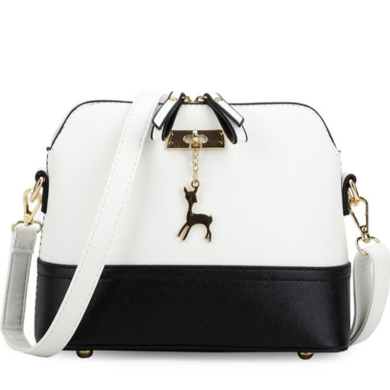 High quality PU leather women shell messenger bags lady with deer decorated lady crossbody and shoulder bag shopping purse T132(China (Mainland))