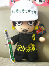 Anime One Piece Trafalgar Law Plush Doll  2 years later Cosplay  Stuffed toy ree Shipping(China (Mainland))