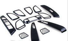 New Car Carbon fiber interior Abs Chrome decoration 13pcs for Hyundai ix35 2010 2011 2012