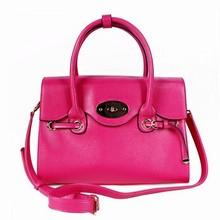 Women's handbag ruffle shoulder bag cross lockbutton handbag messenger bag rose(China (Mainland))