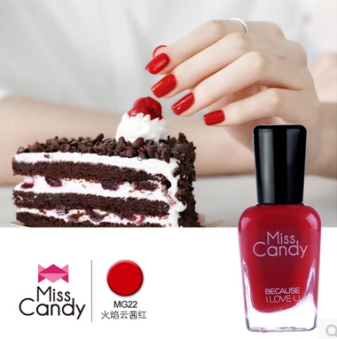 Miss Candy Non-toxic Odorlessness Water-based strippable paint really red nail polish also for children and pregnant ladies(China (Mainland))