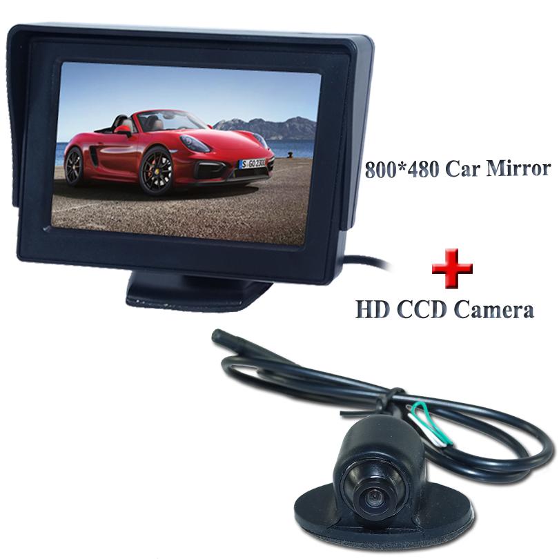 Night Vision 360 Degree Car Rear View Camera Front Camera Front View Side Reversing Backup Camera 4.3 Inch Car Monitor(China (Mainland))