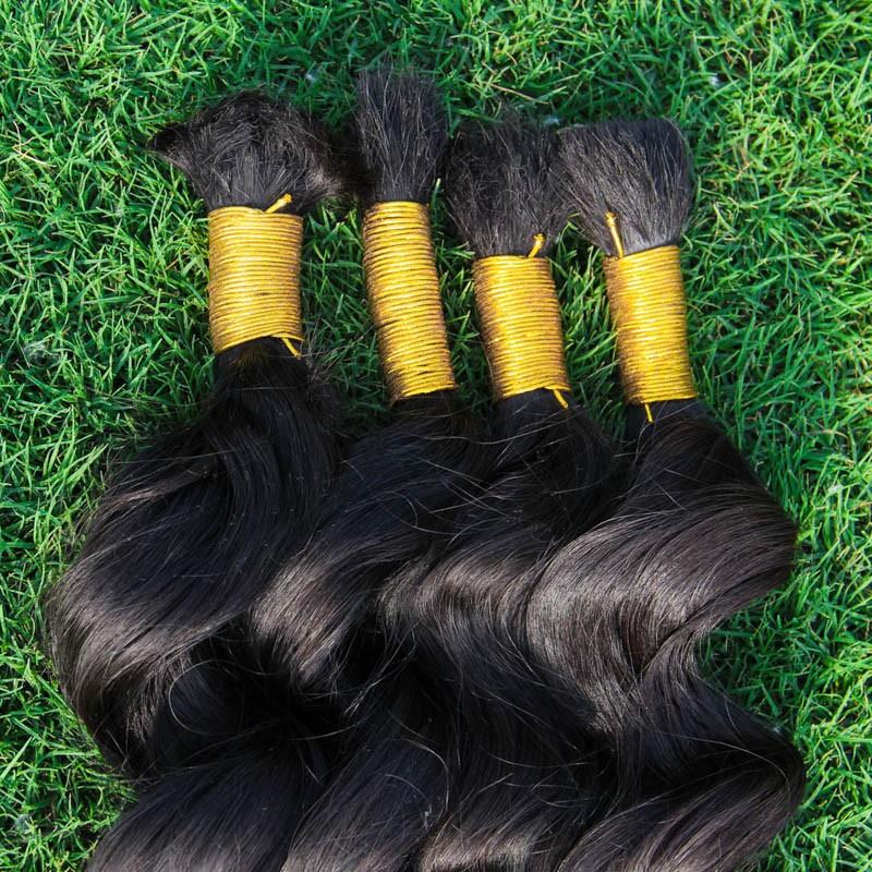 8A bulk human hair for braiding virgin raw brazilian hair human braiding hair bulk wave 1kg 14-34inch brazilian hair bundles