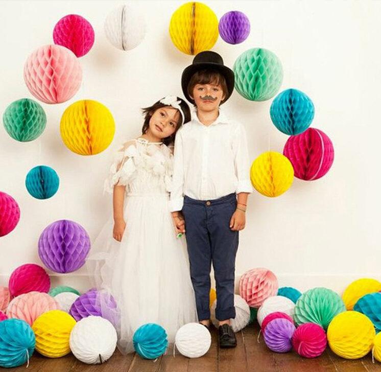 Free Shipping 400pcs 8 inch(20cm) Honeycomb Lanterns Birthday Wedding Decoration Honeycomb Balls(China (Mainland))