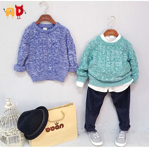 AD Children's Thick Sweaters Age 2-10 Boys Girls Winter Super Warm Snow Dots Tops Kids 95% Cotton Clothing Clothes - Angel vs Devil store