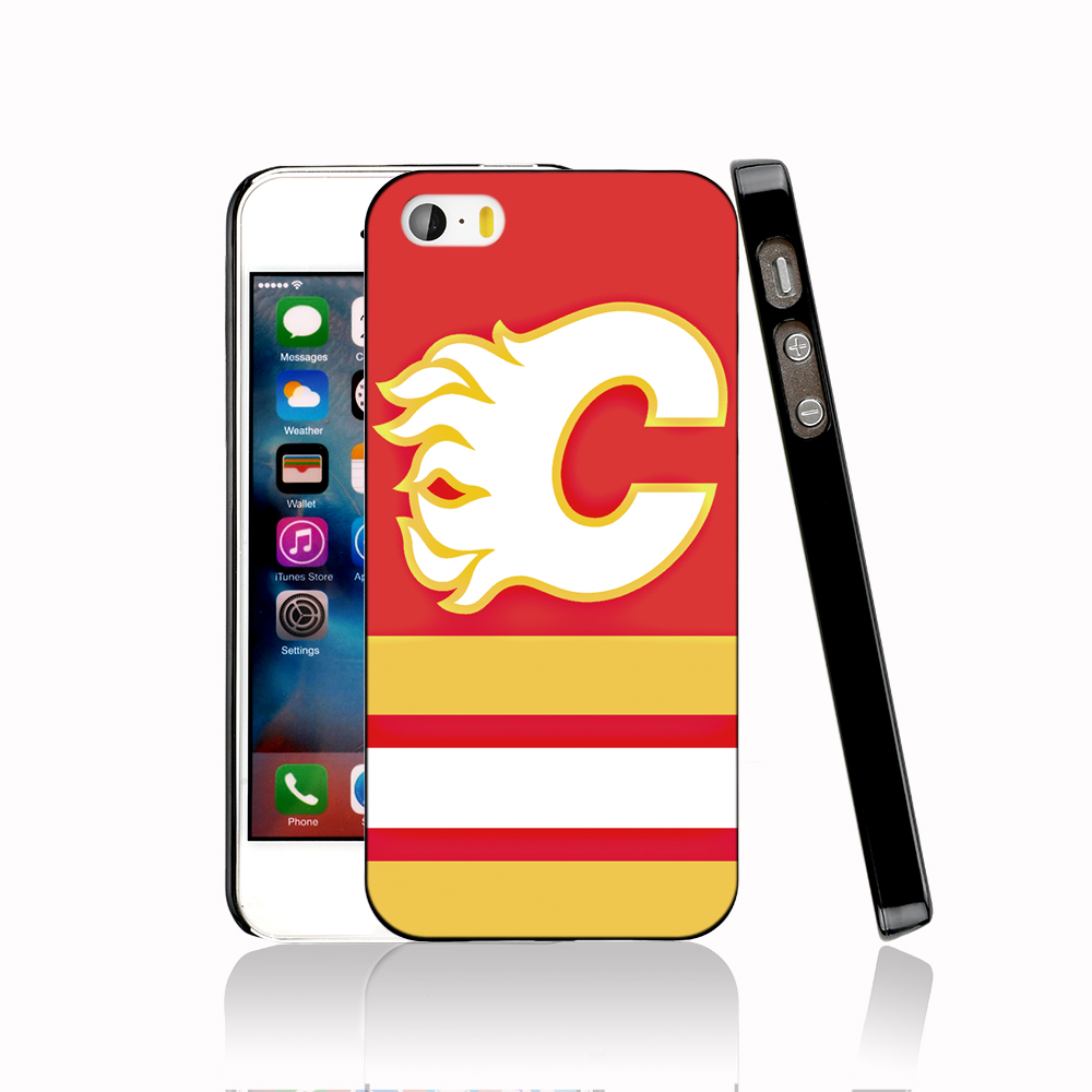14573 calgary flames hockey canada protective Cover cell phone Case for iPhone 4 4S 5 5S 5C SE 6 6S Plus 6SPlus(China (Mainland))