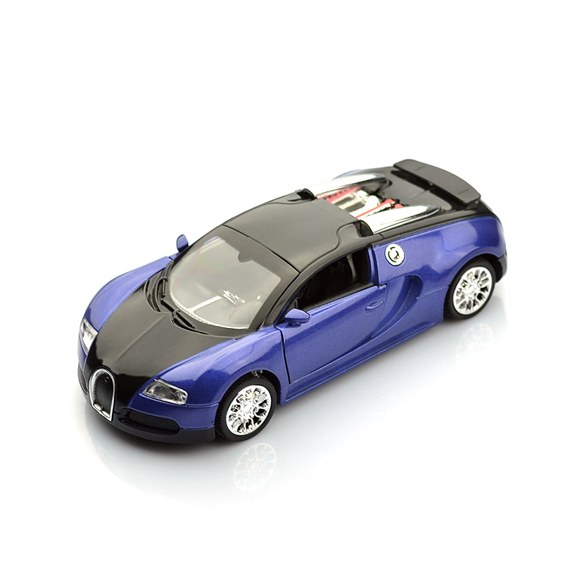 Brand New 1:36 Scale Model Bugatti Veyron Diecast Car Model With Pull Black Collection Car Toys Vehicle Gift(China (Mainland))