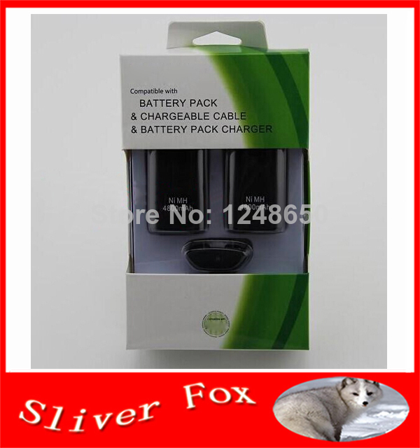 Double Battery Charging kit For xbox 360 Rechargeable Pack Charger Cable for Xbox360(China (Mainland))