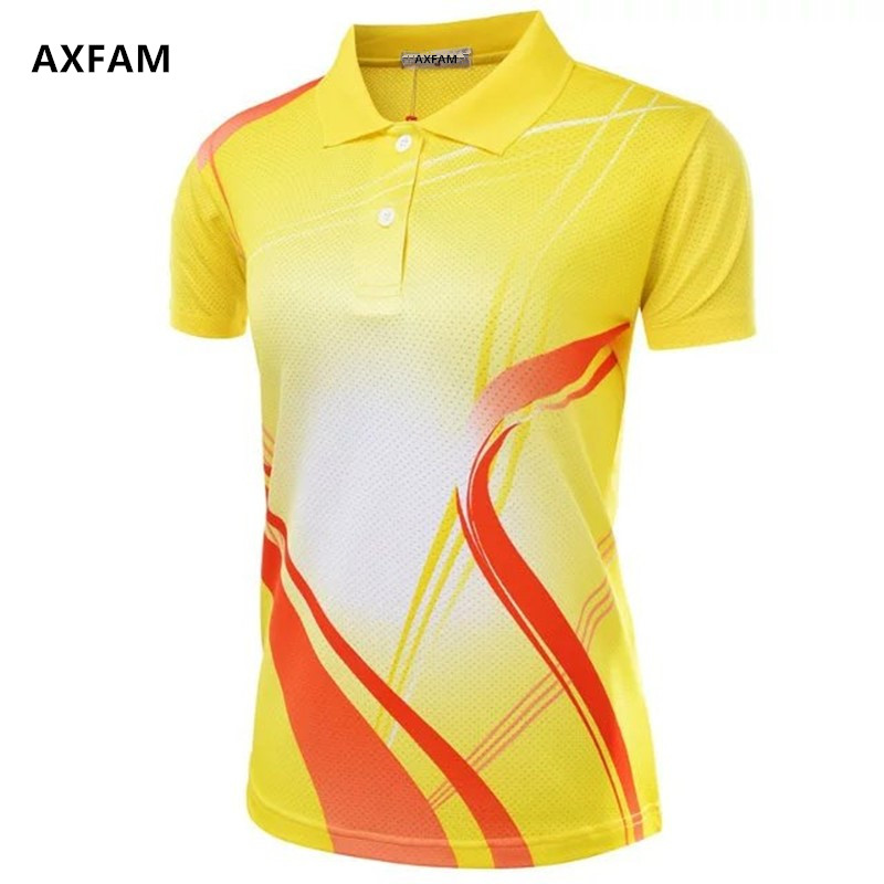 AXFAM Quick Dry Breathable Turn-down collar Women's Tennis Shirts Perfect quality sports Badminton Table Tennis clothing NM051(China (Mainland))