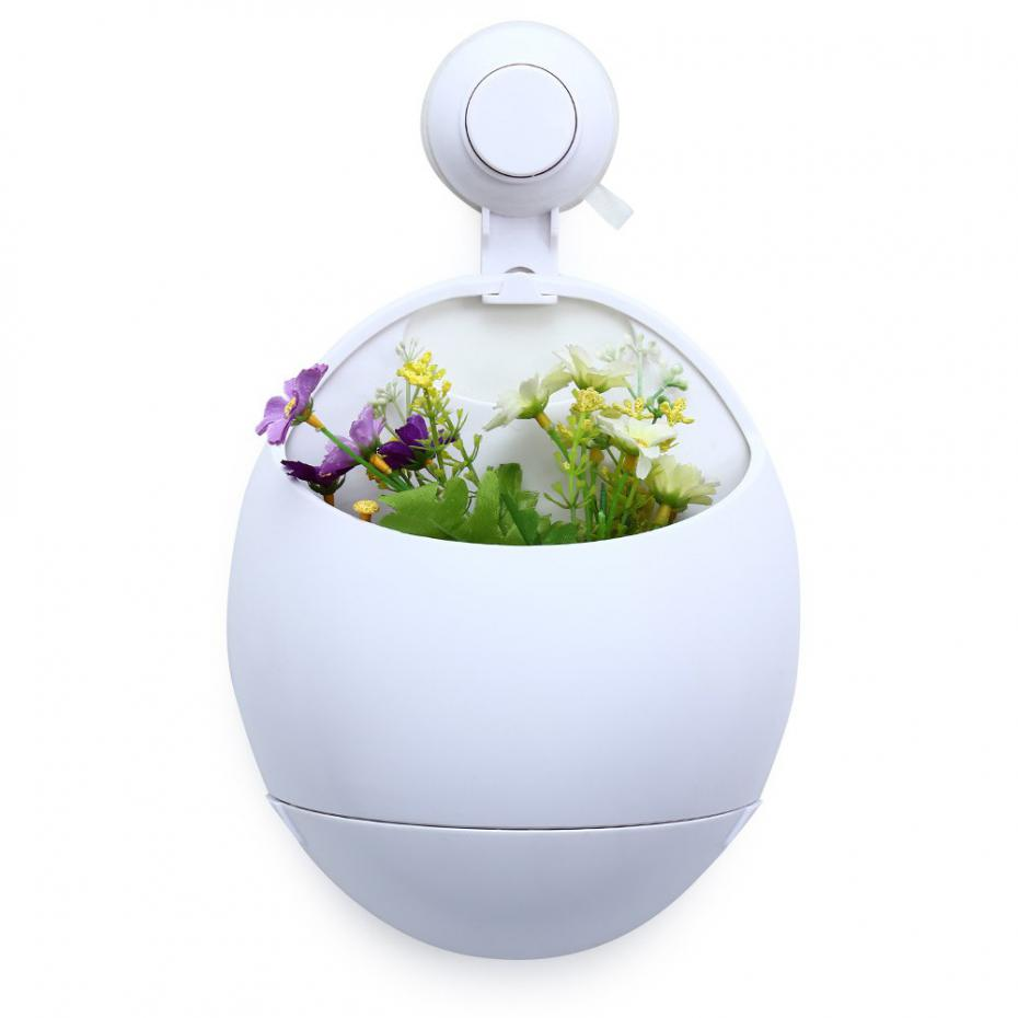 Hot Sale Mini Plastic Flower Pots White Plant Pot Self Watering Hanging Flowe