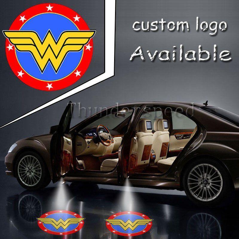 2x Pair Justice League Wonder Woman Logo Light Car Truck Door LED Ghost Shadow Symbol Lamp #1520*4