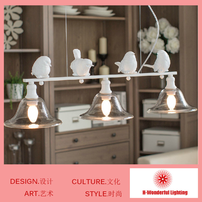 Fashion Personality Chandelier Creative 3 Lamp Modern Resin Iron Chandeliers Indoor Lighting Bedroom Living Dining Room Lights(China (Mainland))