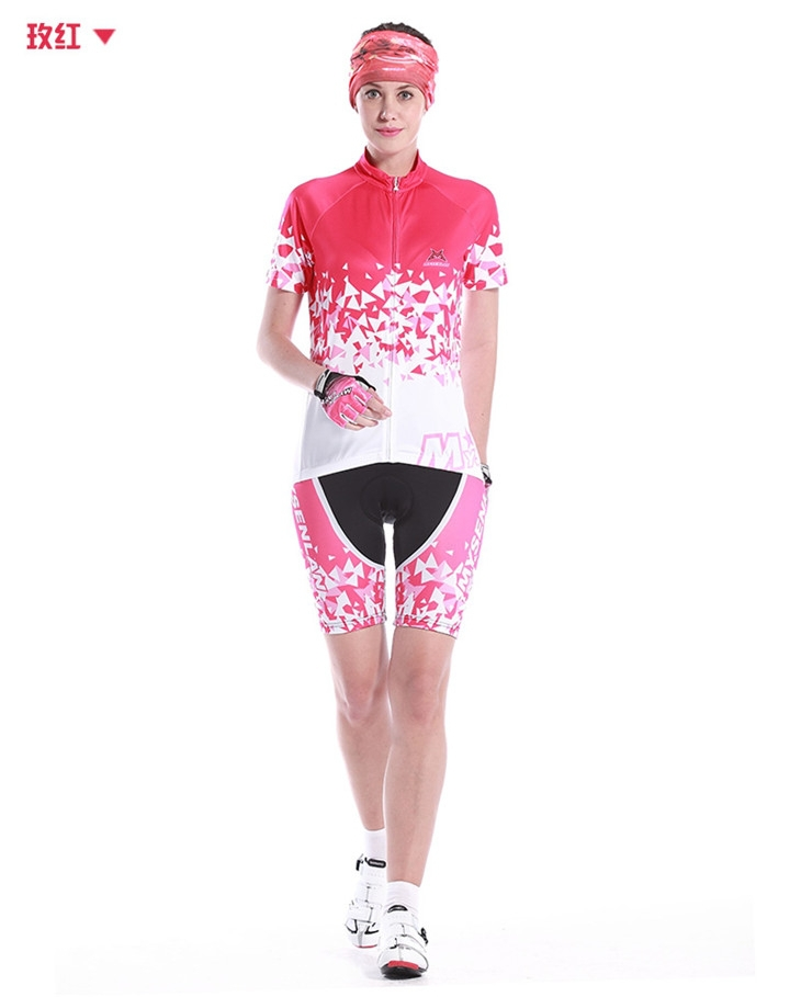 top quality youth summer MYSENLAN Cycling Jerseys and short sleeve bicycle Clothing girls ciclismo(China (Mainland))