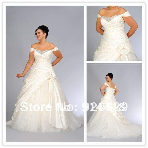 Aliexpresscom buy off shoulder maxi dresses beading for Off white plus size wedding dresses