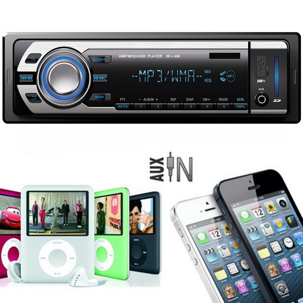 Car Vehicle Sound Music Stereo In-Dash MP3 Player Radio USB/SD/AUX/MMC FM Receiver 6207 Auto Loud Control(China (Mainland))