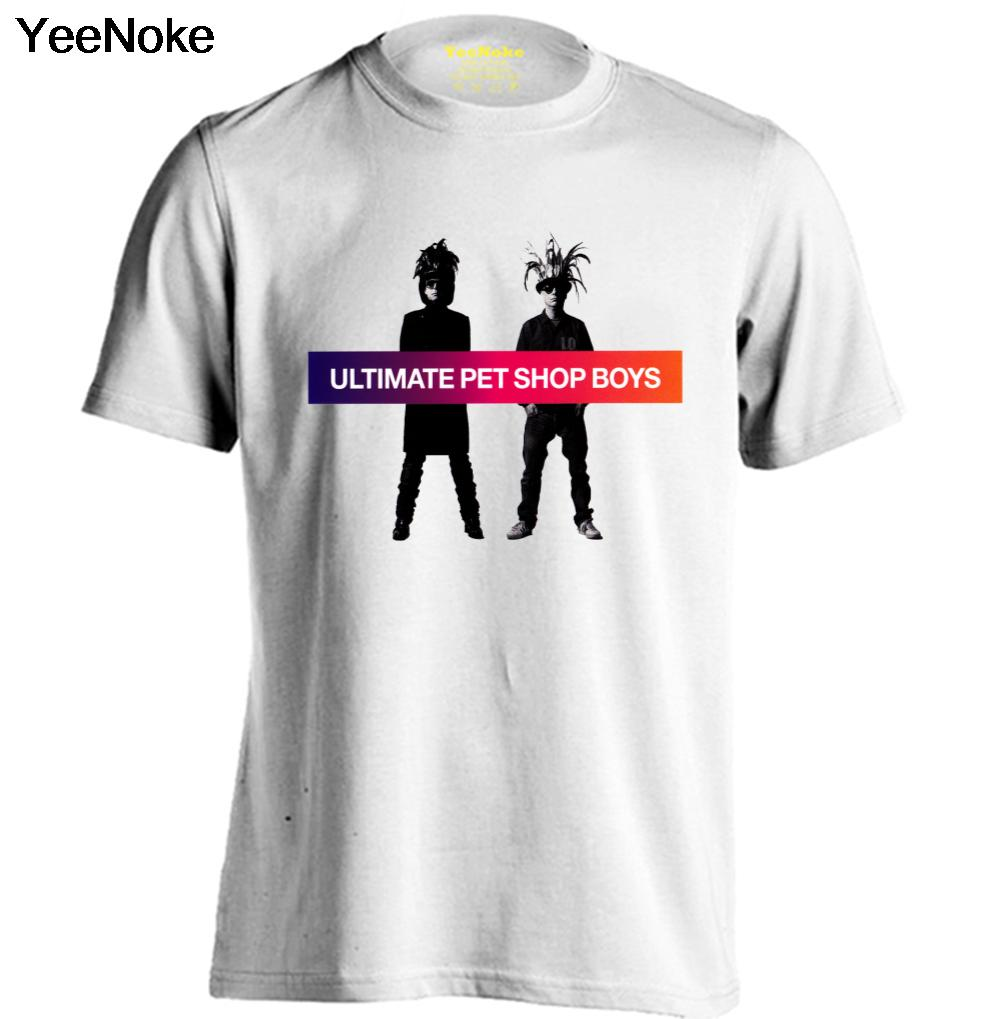 Pet Shop Boys Mens & Womens fashion T shirt Band T Shirts Rock Tee(China (Mainland))
