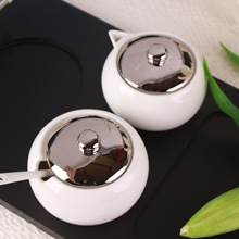 Ceramic Coffee Cup Set Stainless Steel Filter Business Gifts Exquisite Tea Cups Teapot With Wood Tray
