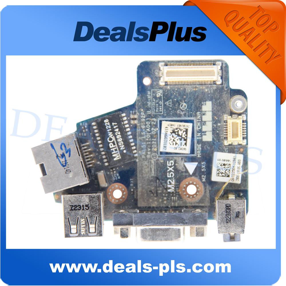 Для Dell E6420 PAL51 LS-6592P USB Аудио Ethernet Vga Доска Бесплатная Доставка for dell latitude e6420 vga pal50 ls 6591p pn cyxng 0cyxng usb audio lan board free shipping