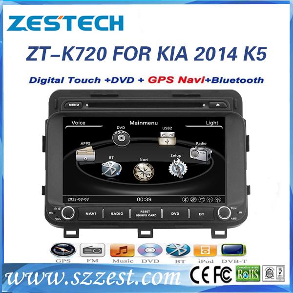 ZESTECH factory OEM newst software 2 din car dvd for KIA K5 2014 car gps/car radio(China (Mainland))