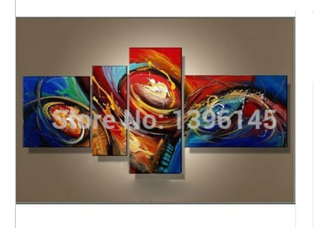 Free Shipping Large Oil Paintings Canvas Pictures Home Decoration Modern Abstract Oil Painting Wall Art wholesale Home Decor(China (Mainland))