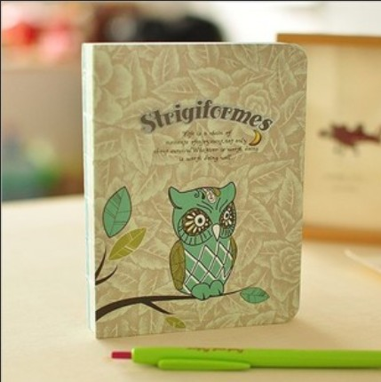 Vintage Kawaii night Owl design Notepads/DIIY Journal notebook paper/Diary books/Nice gift/wholesale<br><br>Aliexpress