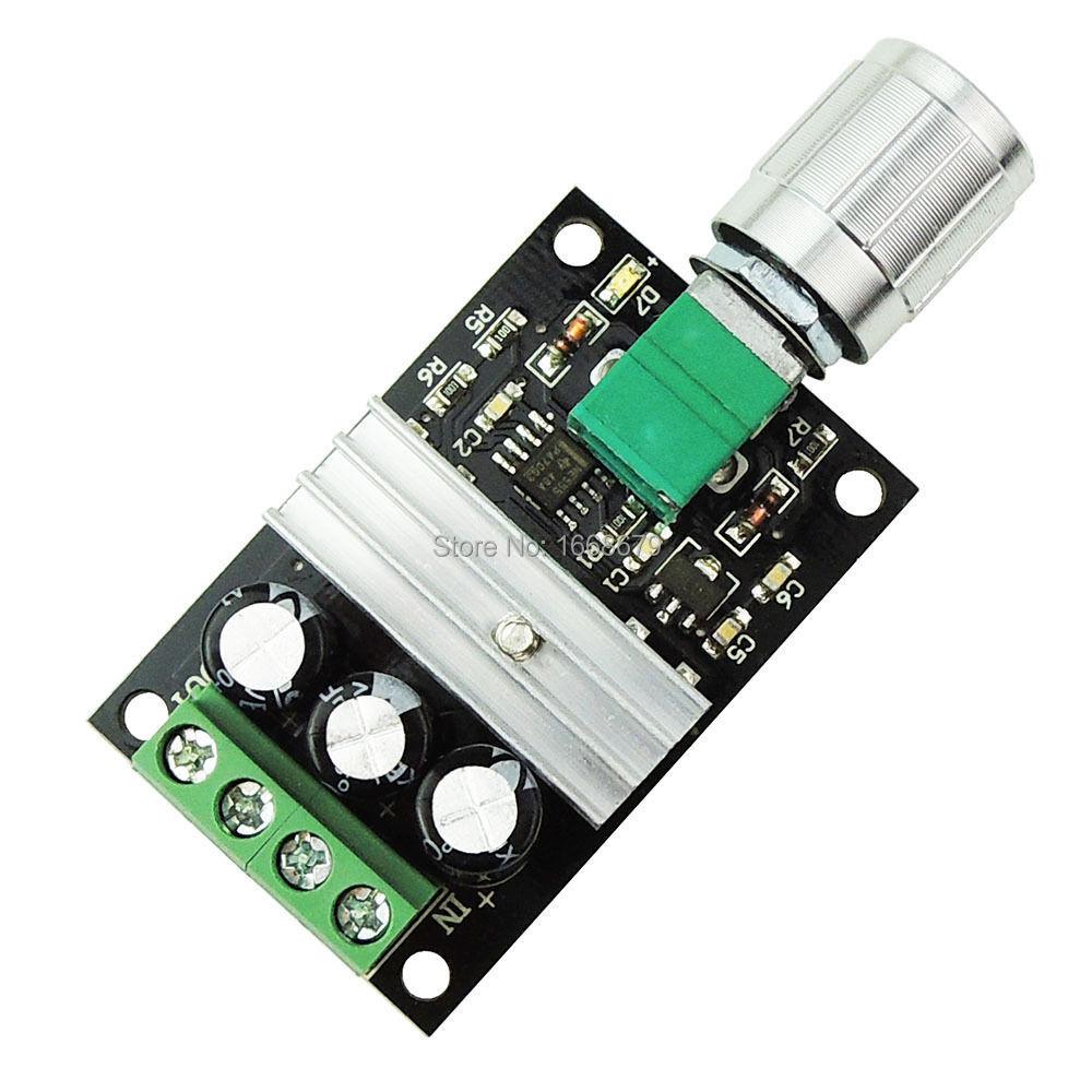 Dc motor speed controller 6v 12v 24v 3a pwm variable speed for 24v dc motor controller circuit