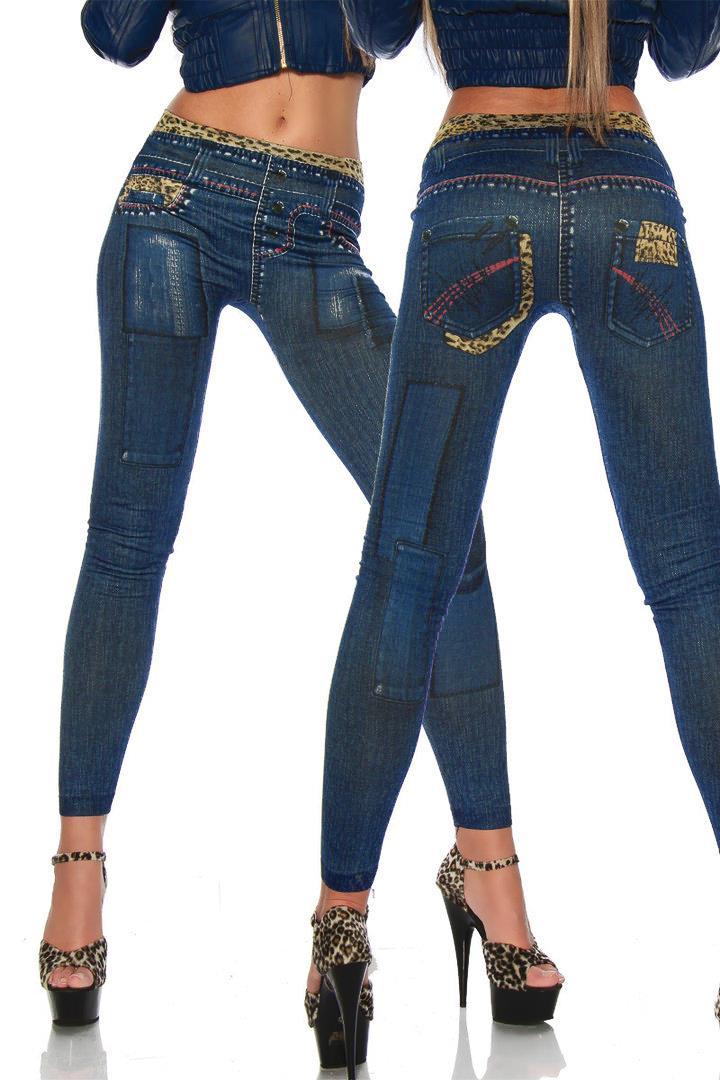 New Women Sexy Tattoo Jean Look Legging Sport Leggins Punk Fitness American Apparel Jeans Woman ...