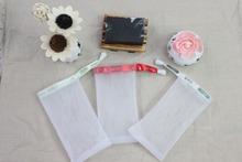 MOQ 10000pcs/set  can  make  logo  ribbon good quality double layer handmade soap  net   mesh bag  for foaming ,essential tool(China (Mainland))