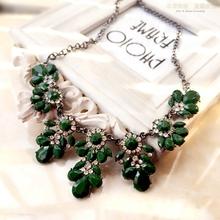 2015 New Fashion Ethnic Shourouk Gold Chain Choker Vintage Rhinestone Neon Bib Statement Necklaces & Pendants Women Jewelry PQ10(China (Mainland))