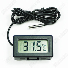 New Mini Aquarium LCD Display Digital Thermometer Fish Tank Water Household Refrigerstor Thermometers 01IJ
