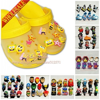 Free shipping,11-19pcs High Quality Cartoon PVC shoe charms /shoe accessories for clog/ Wristbands,Fit cor croc jibz,Party Gift