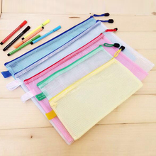 10 pcs/lot Gridding Waterproof Zip Bag Document Pen Filing Products Pocket Folder Free shipping Office & School Supplies(China (Mainland))