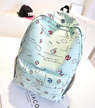 2016 New College Lovely Style School Backpack For Women Teenage Girl Feminina Backpacks Lona Escolar Mochila Women Lady Bags(China (Mainland))