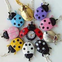 DW047 Casual Dress Quartz Pocket Watch , Colorful Beetle Children Fob Watch, Free Shipping Wholesale(China (Mainland))