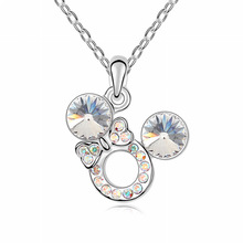 Necklace for Women Rhinestone Jewelry Fashion Designer Gift Brand Made With Swarovski Elements #99950(China (Mainland))