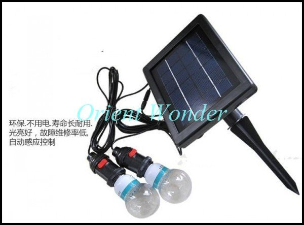 Free shipping,solar powered lighting system,indoor solar home lighting system with 2 lighting Portable system