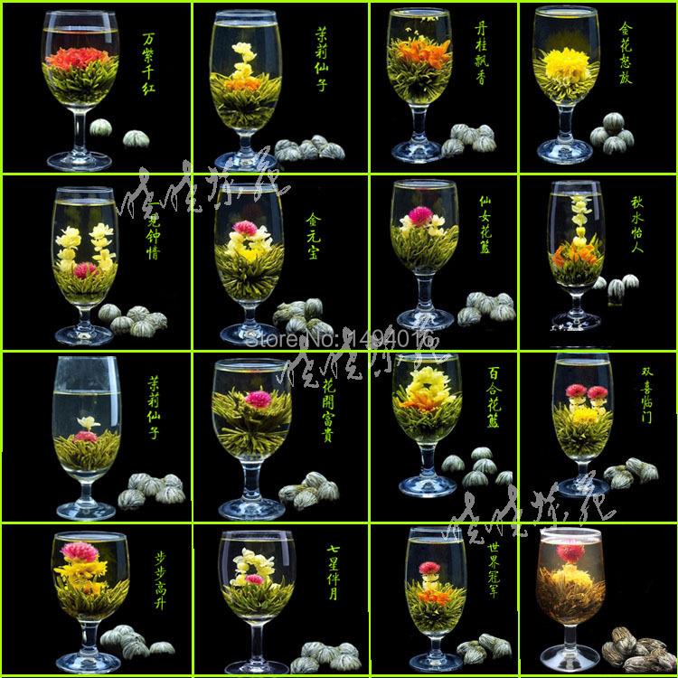 130g16 Kind Handmade Flower Tea Blooming jasmine Tea Ball Chinese herbal Flower tea Artistic tea health care Flowering tea balls<br><br>Aliexpress