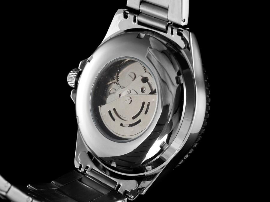 GOER бренд мужской Автоматический Световой Скелет цифровой Человек часы мужская спорт Механические Наручные часы Из Нержавеющей Стали водонепроницаемый