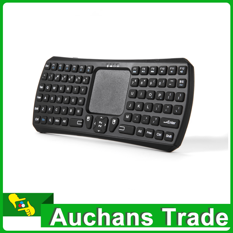 New Mini Wireless Bluetooth Qwerty Keyboard Touchpad Mouse For Smart TV Phone Android IOS(China (Mainland))