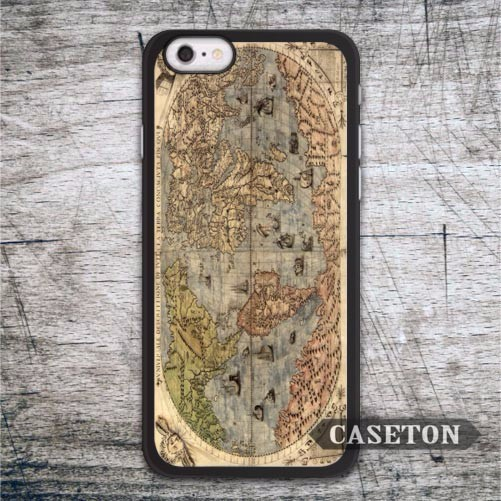 World Map Case For iPhone 7 6 6s Plus 5 5s SE 5c and For iPod 5 High Quality Vintage Ultra Phone Cover Free Shipping