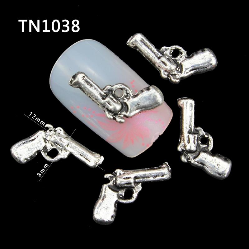 10Pcs/Pack Gray Gun DIY 3D Nail Art Decorations For 2515 New Glitters Alloy Nail Tools TN1038<br><br>Aliexpress