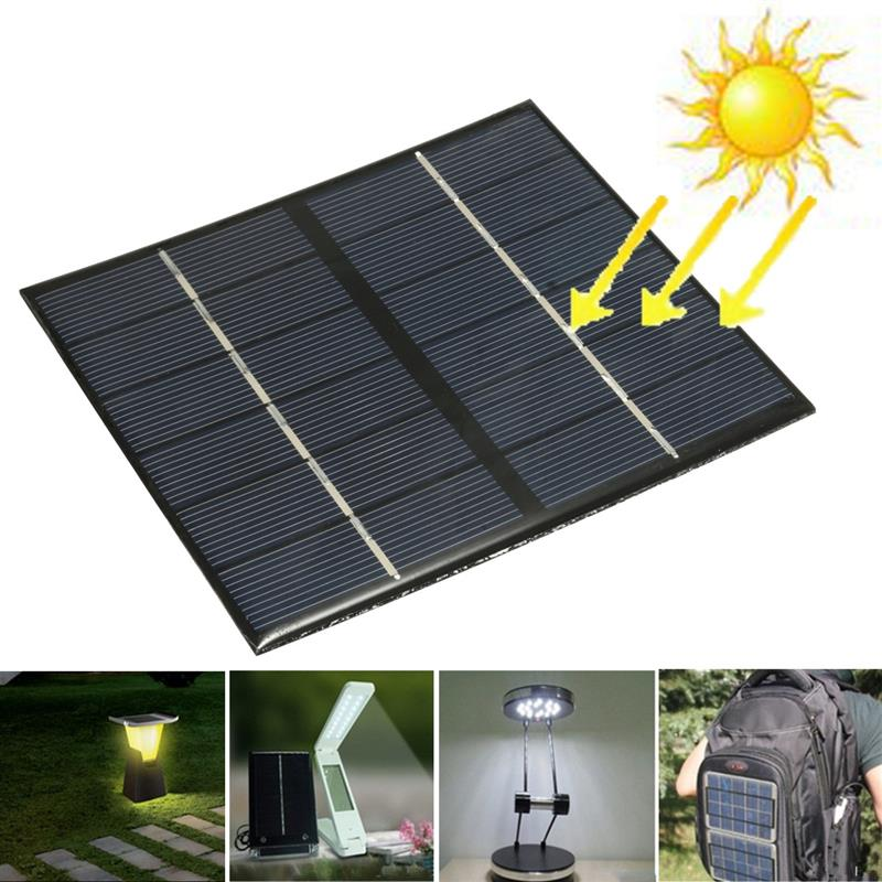 Portable Solar Power Panel 2.5W 6V Solar Panel Bank DIY Home Solar System Module Charger For Light Battery Phone Toy
