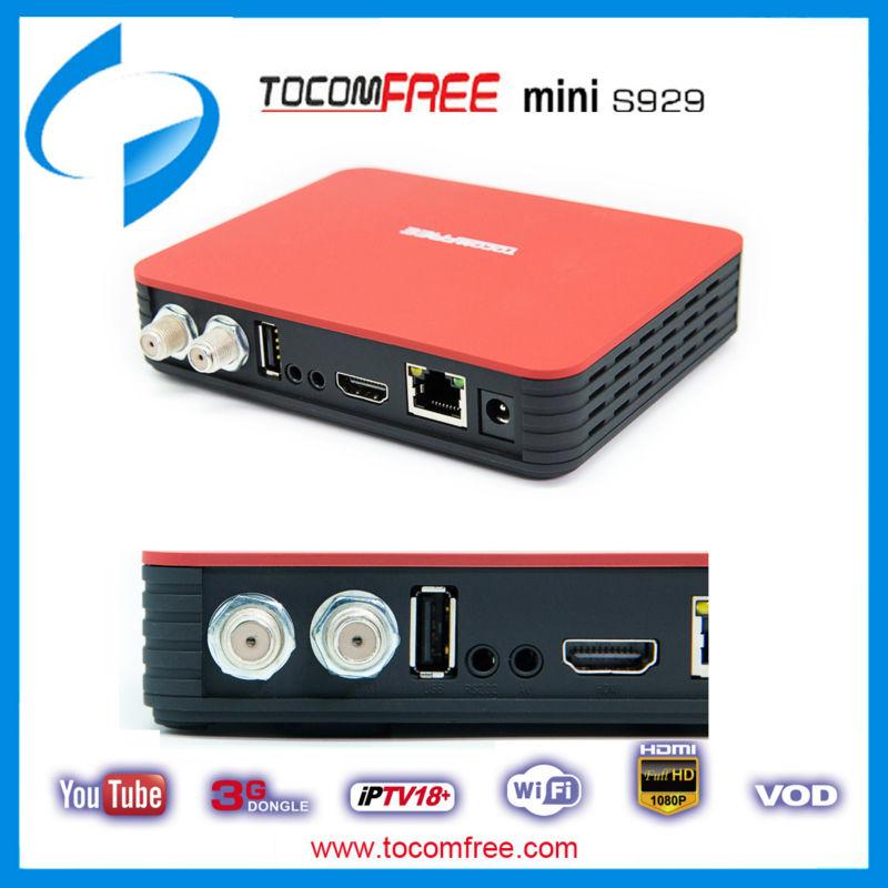 TocomFREE S929 Mini FullHD 1080p LAN USB PVR HDTV Satellite receiver NEW(China (Mainland))