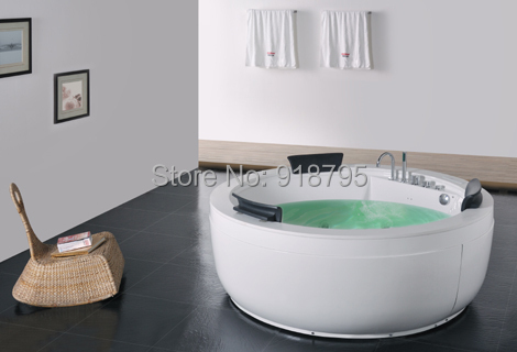 Fiber Glass Acrylic Whirlpool Bathtub Hydromassage Surfing Round Tub Nozzles