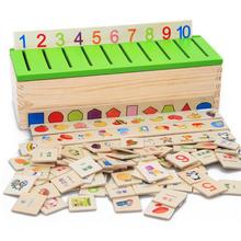 Livraison Gratuite Montessori Matematica Connaissances Classification Boîte Montessori Matériaux Apprendre-dames Jouets pour Enfants Boîte En Bois(China (Mainland))