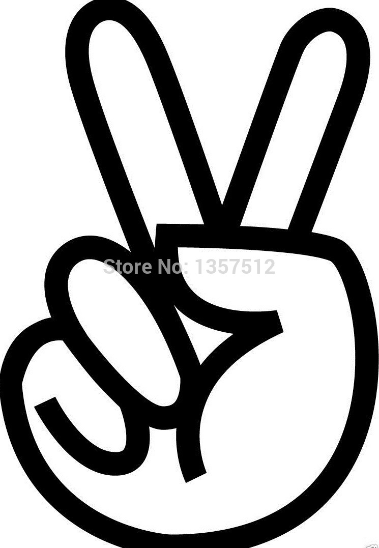 Peace Sign Love Hippie Tattoo Sticker Car Window Truck SUV Door Art Wall Etc Vinyl Decal 8 Colors(China (Mainland))