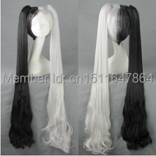 Blade Soul Pohwaran  Cos Anime Wig Cosplay Costume Wigs Women Wigs Long Hair 30cm + 120CM Ponytail Dual  <br><br>Aliexpress