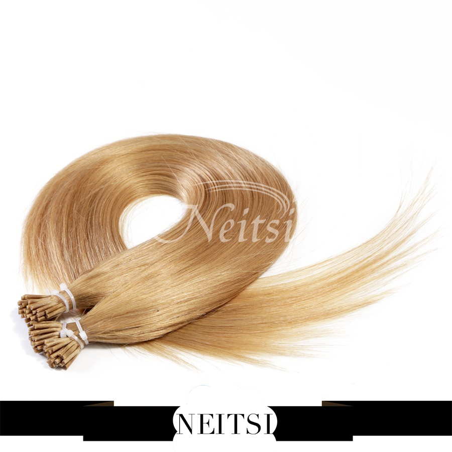 "Brazilian I Tip Stick Hair Extensions Pre bonded Hair Extensions 20"" 1s/strand 25s 27# Honey Blonde Support US Local Delivery(China (Mainland))"